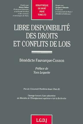 Libre disponibilité des droits et conflits de lois