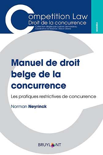 Manuel de droit belge de la concurrence