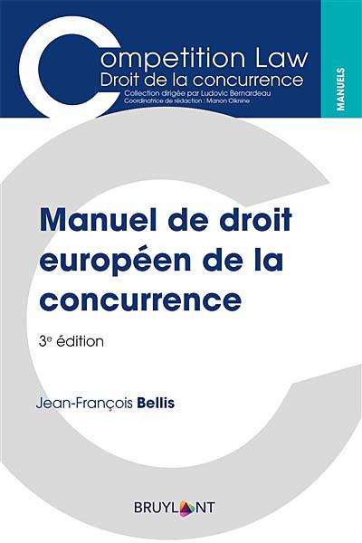 Manuel de droit européen de la concurrence