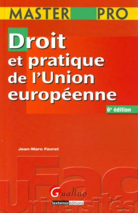 Master Pro - Droit et pratique de l'Union européenne