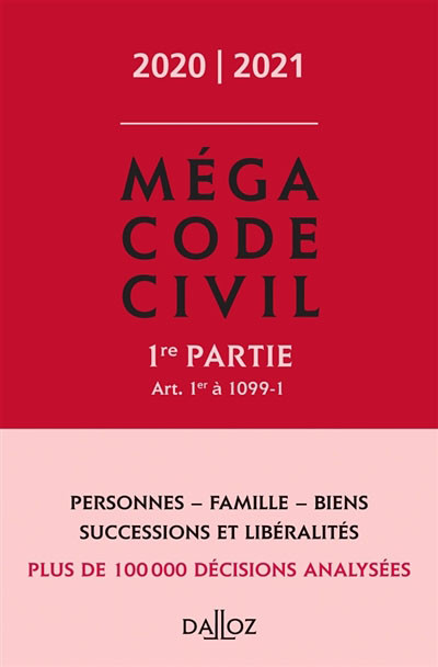 Méga code civil 2020-2021