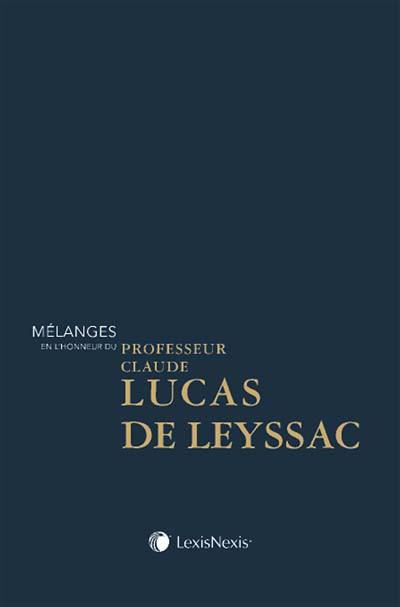 Mélanges en l'honneur de Claude Lucas de Leyssac