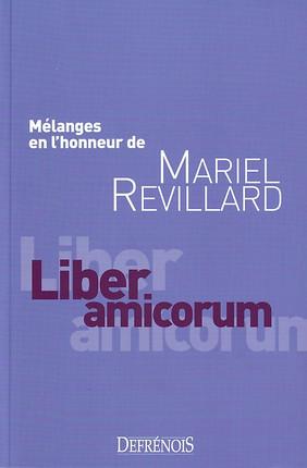 Mélanges en l'honneur de Mariel Revillard