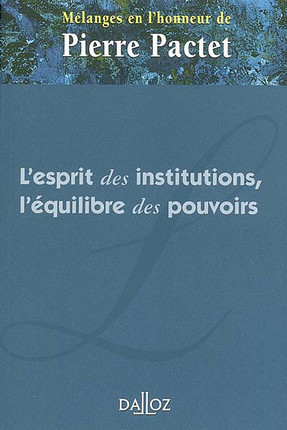 Mélanges en l'honneur de Pierre Pactet