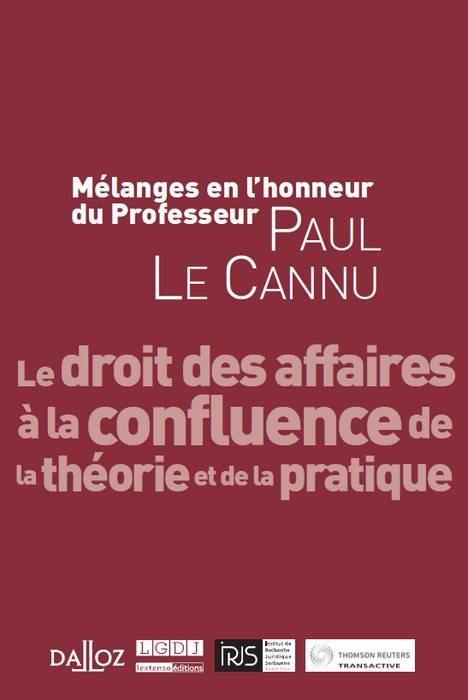 Mélanges en l'honneur du Professeur Paul Le Cannu