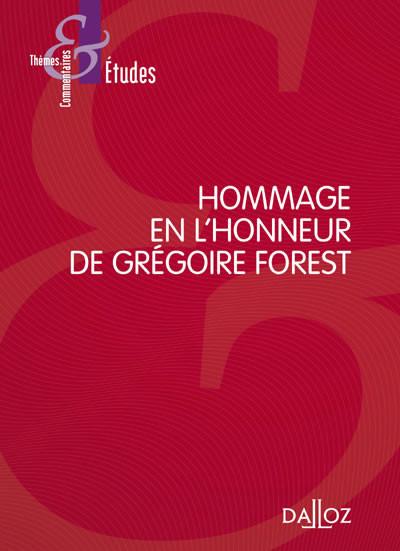Mélanges Grégoire Forest