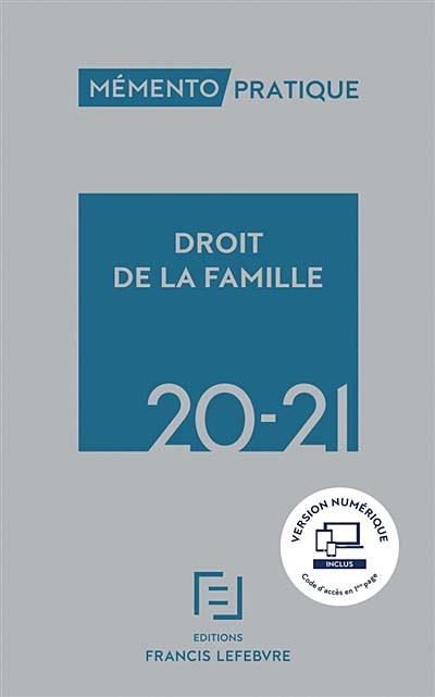 Mémento droit de la famille 2020-2021