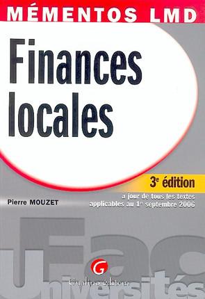 Mémentos LMD - Finances locales