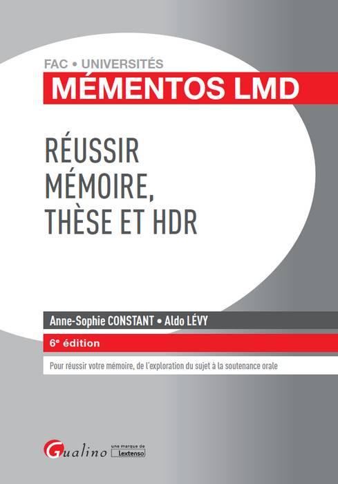 Réussir mémoire, thèse et HDR