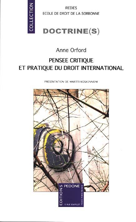 Pensée critique et pratique du droit international