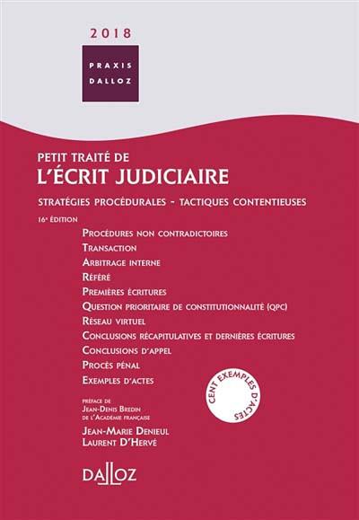 Petit traité de l'écrit judiciaire 2018