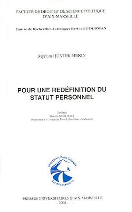 Pour une redéfinition du statut personnel