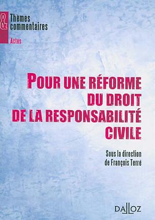 Pour une réforme du droit de la responsabilité civile