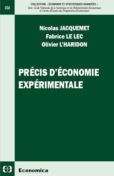 Précis d'économie expérimentale