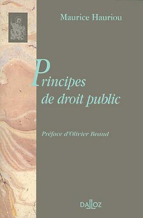Principes de droit public