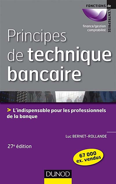 Principes de technique bancaire