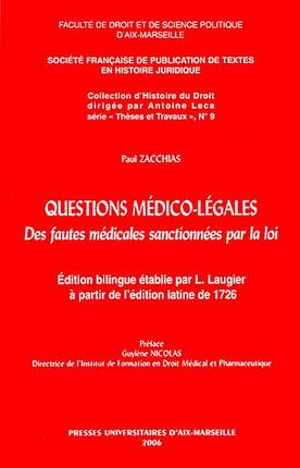 Questions médico-légales N°9