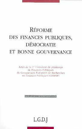 Réformes des finances publiques, démocratie et bonne gouvernance