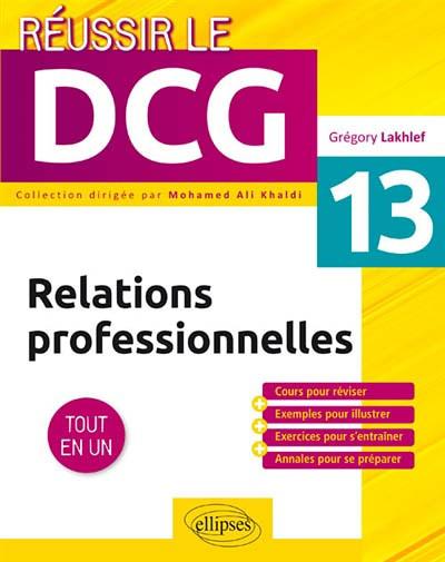 Relations professionnelles : UE 13