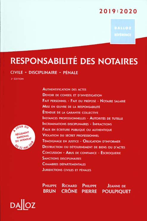 Responsabilité des notaires 2019-2020