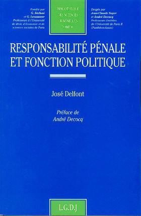 Responsabilité pénale et fonction politique