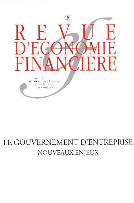Revue d'économie financière, 2e trimestre 2018 N°130