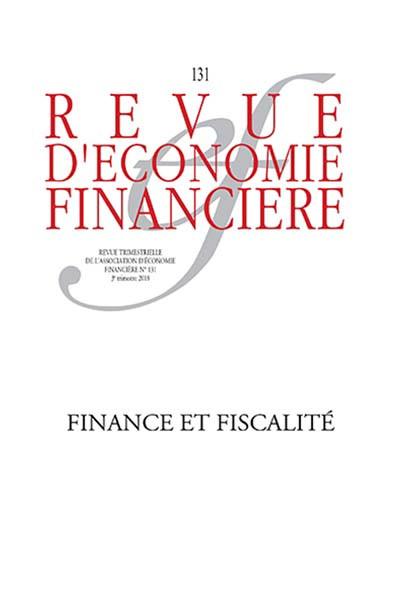 Revue d'économie financière, 3e trimestre 2018 N°131