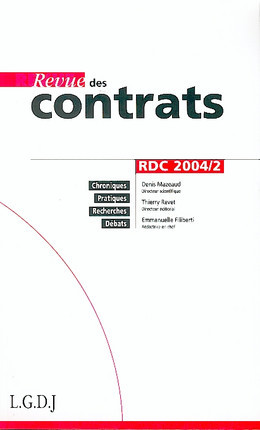 Revue des contrats, avril 2004 N°2
