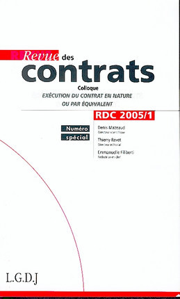 Revue des contrats, mars 2005 N°1