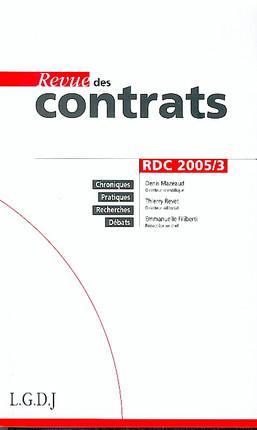 Revue des contrats, septembre 2005 N°3