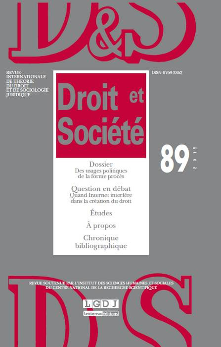 Revue Droit et Société, 2015 N°89