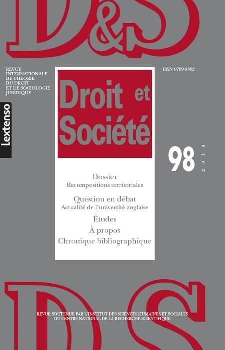Revue Droit et Société, 2018 N°98
