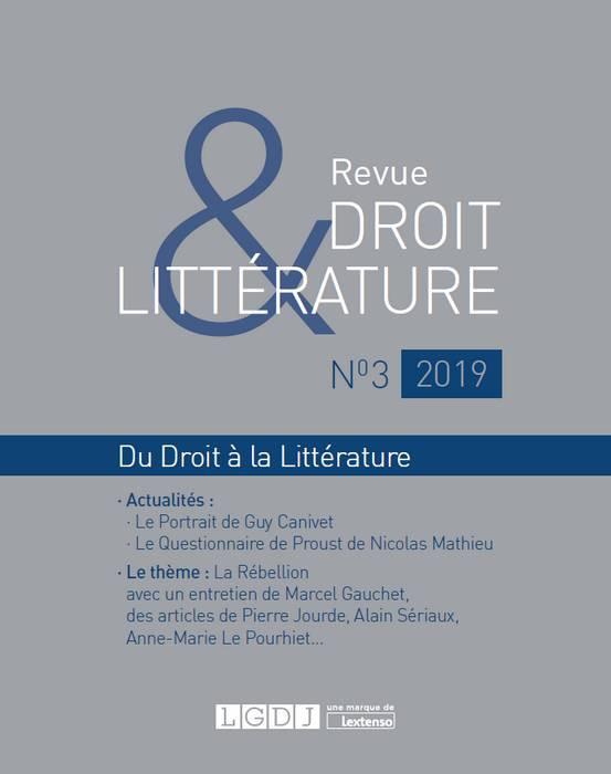 Revue Droit & Littérature N°3-2019