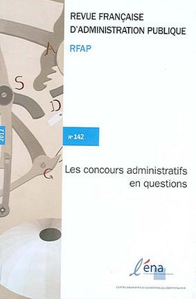 Revue française d'administration publique, 2012 N°142