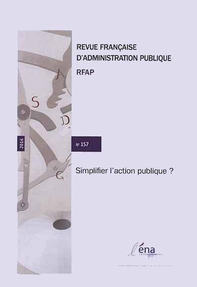 Revue française d'administration publique, 2016 N°157