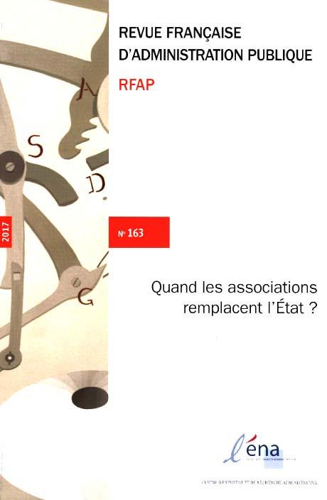 Revue française d'administration publique, 2017 N°163