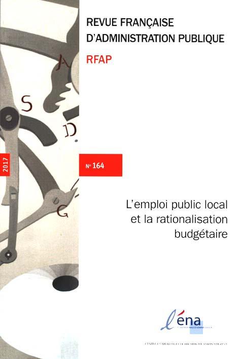 Revue française d'administration publique, 2017 N°164
