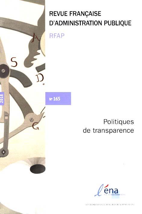 Revue française d'administration publique, 2018 N°165
