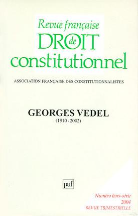 Revue française de droit constitutionnel, 2004 N°hors-série