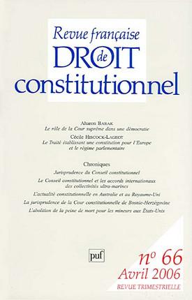 Revue française de droit constitutionnel, avril 2006 N°66