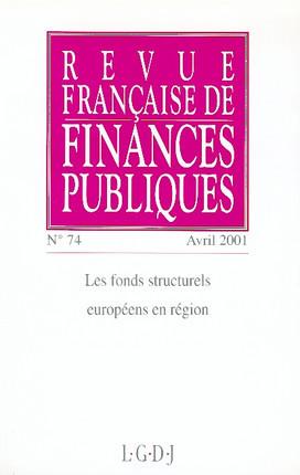 Revue française de Finances Publiques, avril 2001 N°74