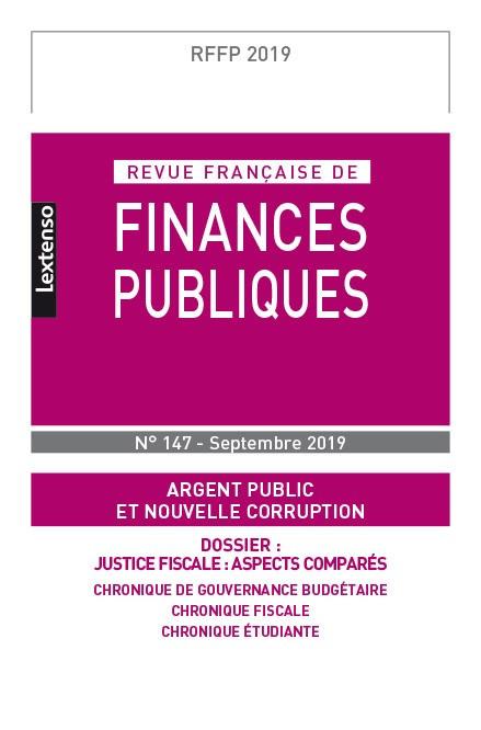 Revue Française de Finances Publiques N°147 - septembre 2019