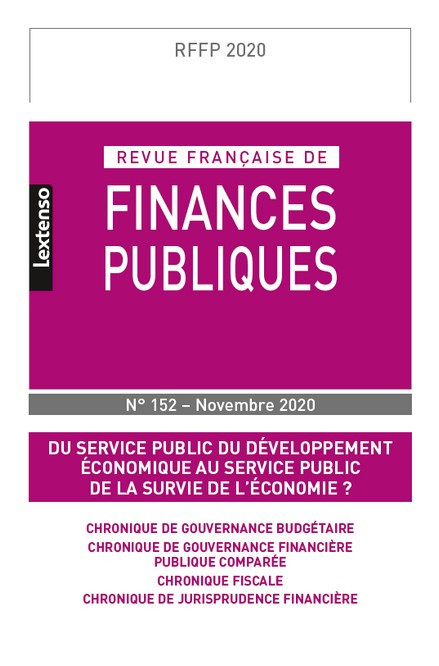 Revue Française de Finances Publiques N°152-Novembre 2020