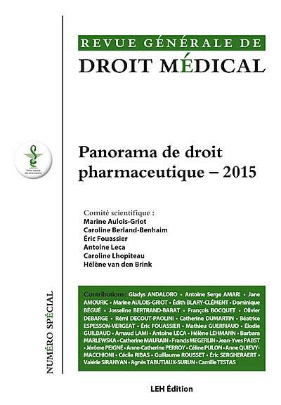 Revue générale de droit médical, 2015 N° spécial