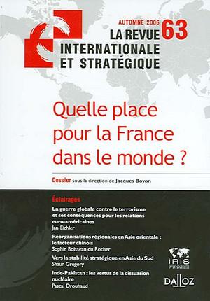 Revue internationale et stratégique, automne 2006 N°63