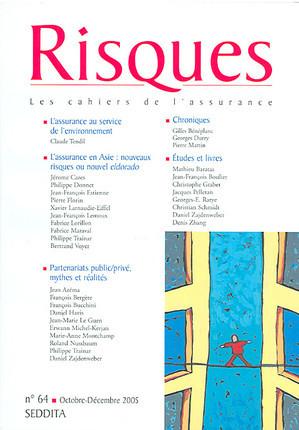 Risques, octobre-décembre 2005 N°64