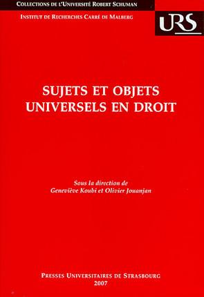 Sujets et objets universels en droit