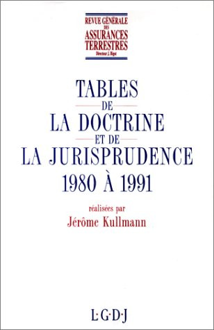 Table analytique 1980-1991