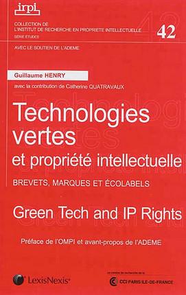Technologies vertes et propriété intellectuelle : brevets, marques et écolabels N°42