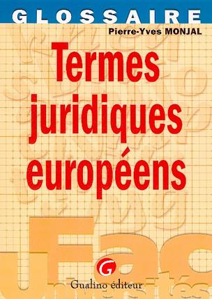 Termes juridiques européens